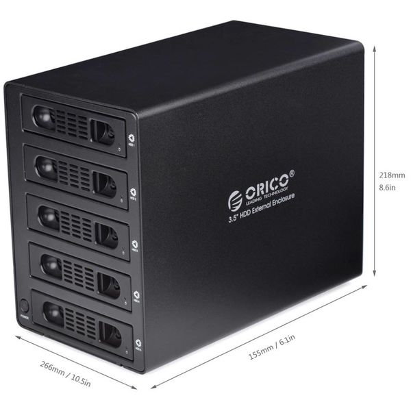 Orico Aluminum 3.5 inch SATA USB 3.0 & eSATA - Black