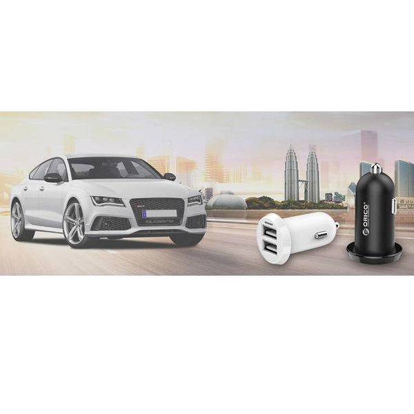 Orico 17W Dual USB Car Charger Quick Charge 2.0 - Black - 12 - 24V