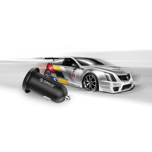 Orico 17W double chargeur de voiture USB Charge rapide 2.0 - Noir - 12 - 24V