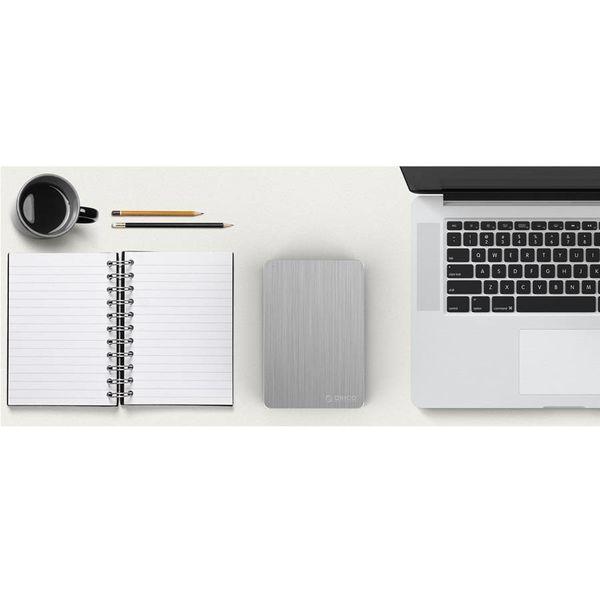 Orico 2,5-Zoll-USB-3.0-Festplattengehäuse - schwarz silber
