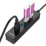 Orico USB3.0-Hub mit 4 Ports für Windows und Mac OS - schwarz