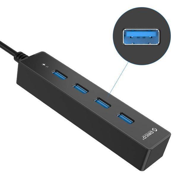 Orico USB3.0 HUB avec 4 ports pour Windows et Mac OS - noir