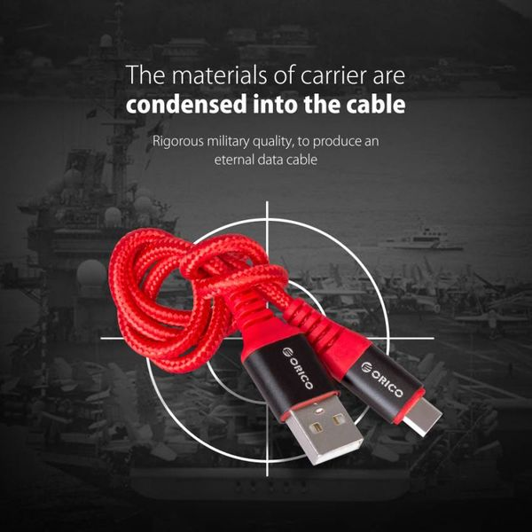 Orico 1 meter USB Type-C data and charging cable - 2.4A - Red