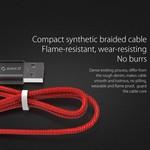 Orico 1 meter USB Type-C data- en oplaadkabel - 2.4A - Rood