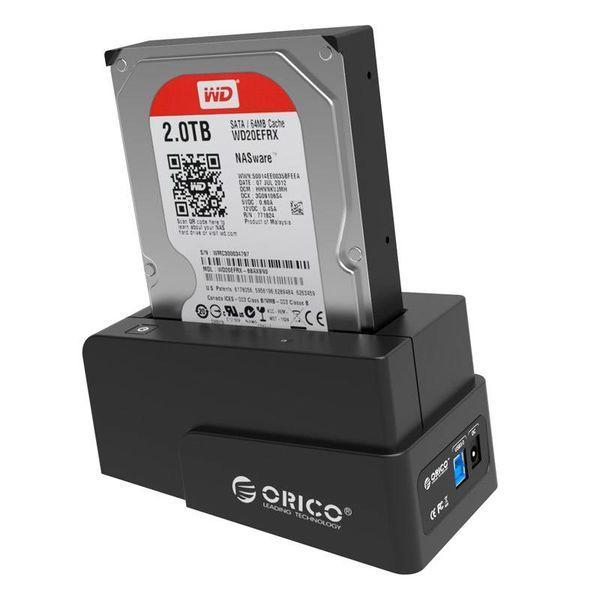 Orico USB 3.0 HDD Dockingstation für 2,5 und 3,5 Zoll-SATA-Festplatten