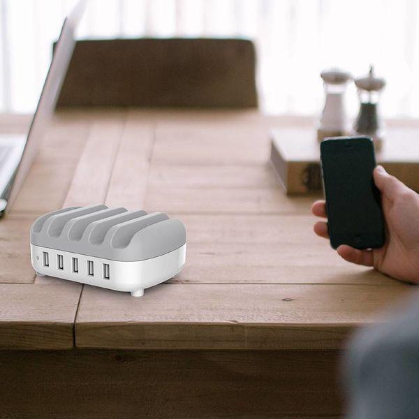 Orico Chargeur multi dock 40W 5 Port USB Station de recharge - Blanc
