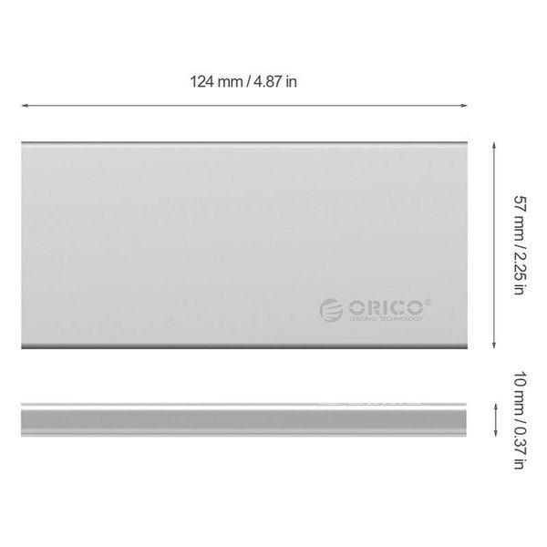 Orico Aluminum Dual-bay 10Gbps M.2 RAID External Hard Drive Enclosure
