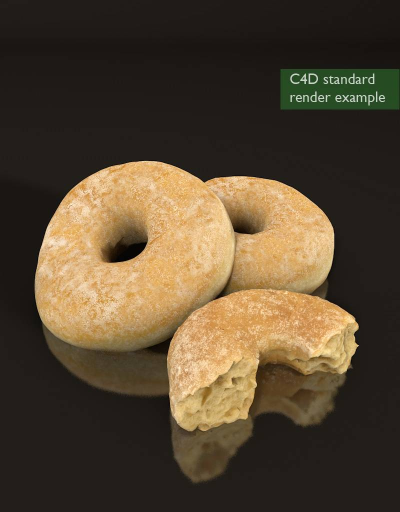 3D model sugar coated donut
