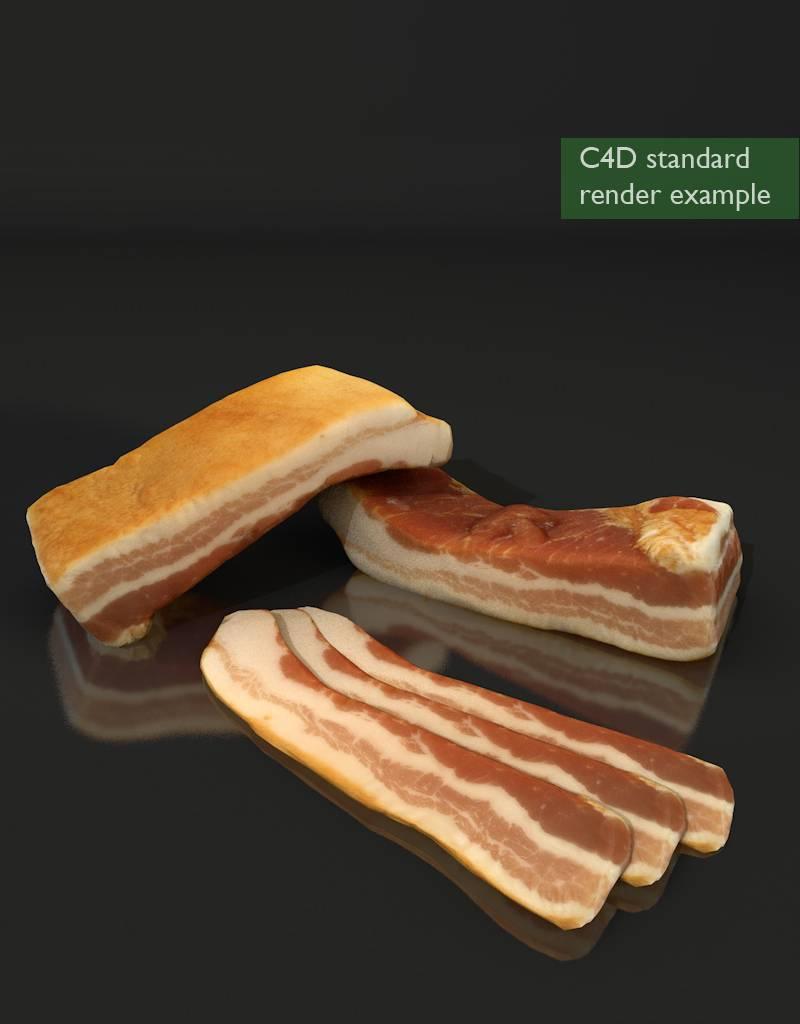 3D model bacon