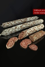 3D model dried sausages