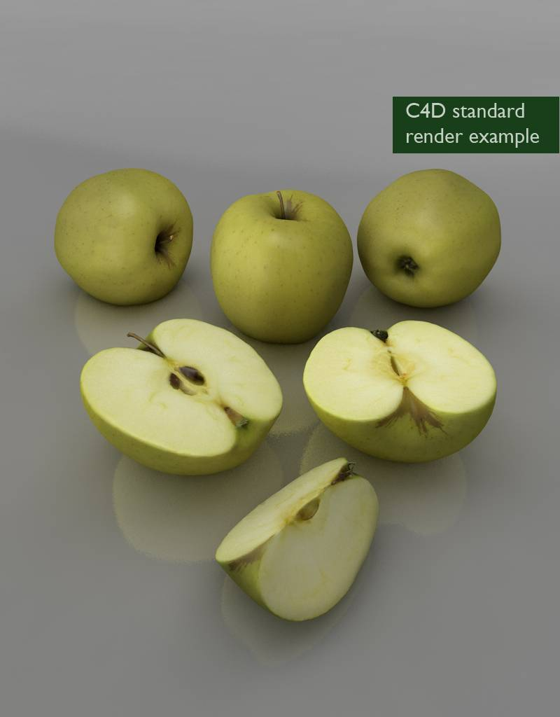 3D model Golden Delicious apple