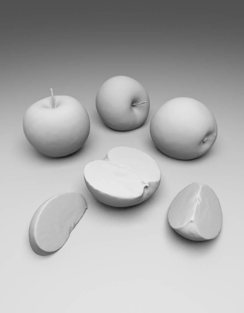 3D model Granny Smith apple
