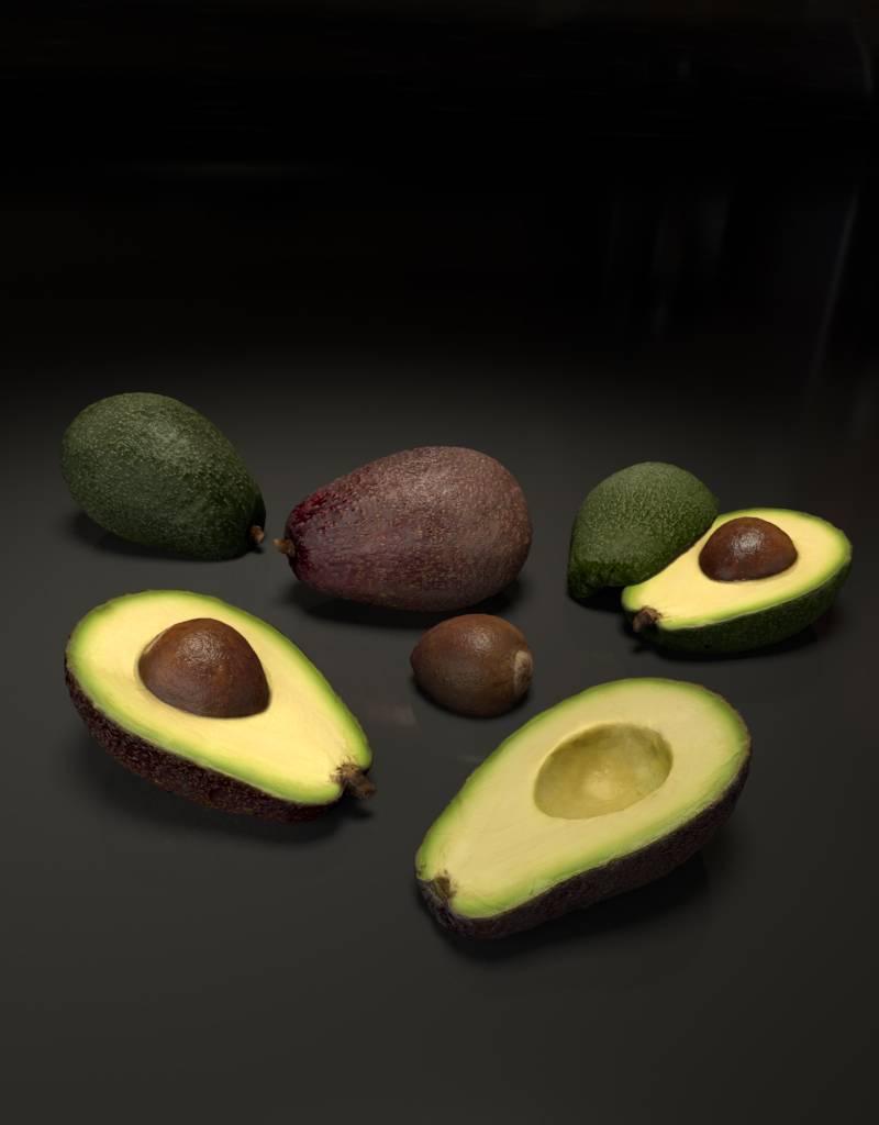 3D model avocado