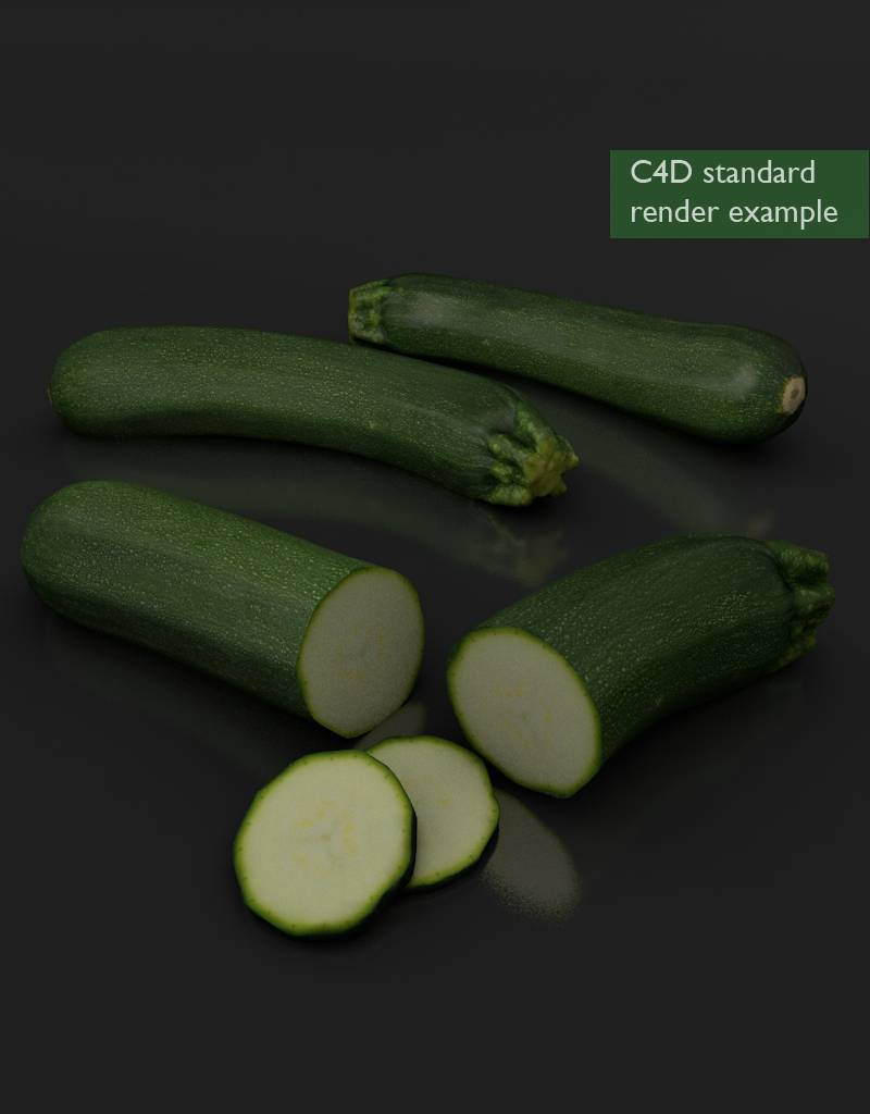 3D model  courgette - zucchini