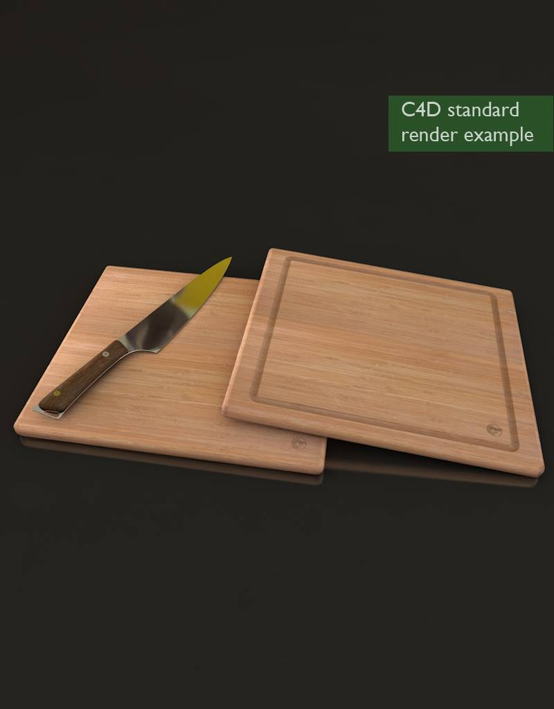 3d model of a bamboo cutting board and kitchen knife cg moa. Black Bedroom Furniture Sets. Home Design Ideas