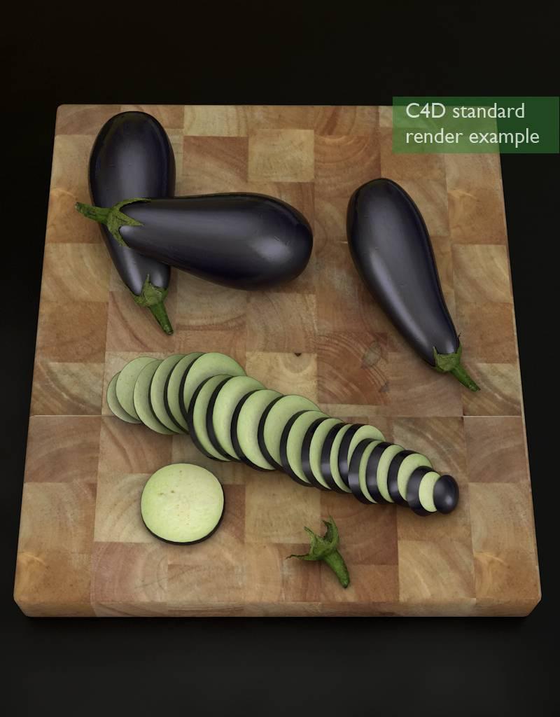 3D model  aubergine - eggplant