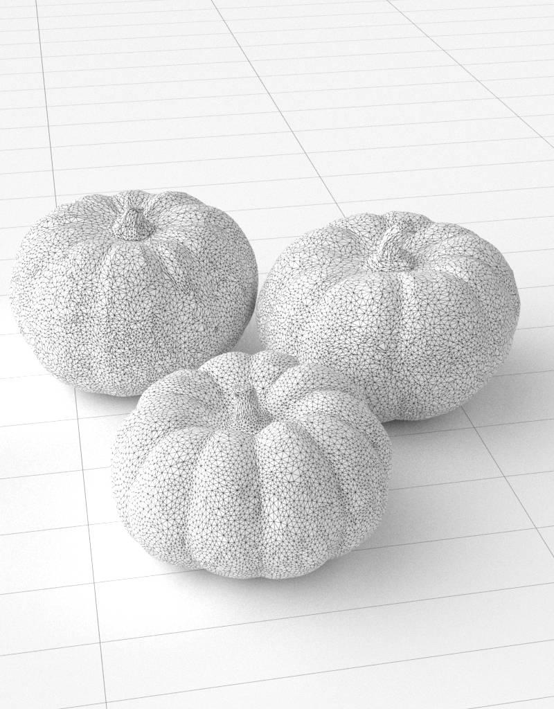 3D model pumpkin