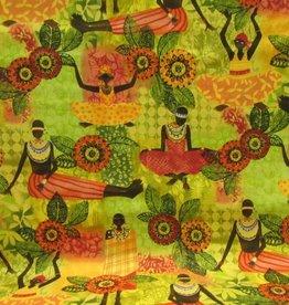 Stoff Afrika stilisierte Muster - Künstler- und ...