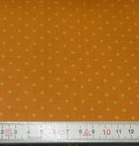 Patchworkstoff gelbe Punkte auf orange