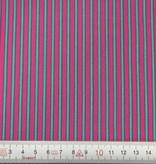Patchworkstoff pink-grüne Streifen