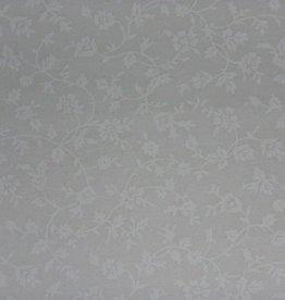 """Stoff """"Weiße Blumenranken weiß"""""""