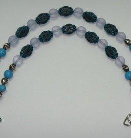 Taschenhenkel hellblaue türkis Perlen