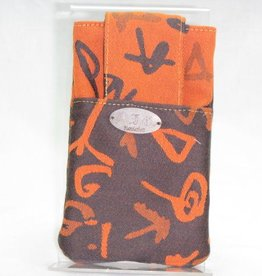 Handy-Tasche schwarz-orange