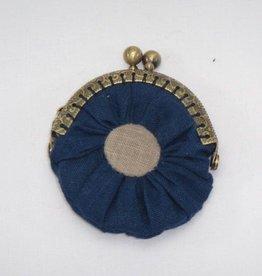 Geldbörse blau beige