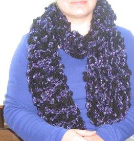Schal schwarz violett
