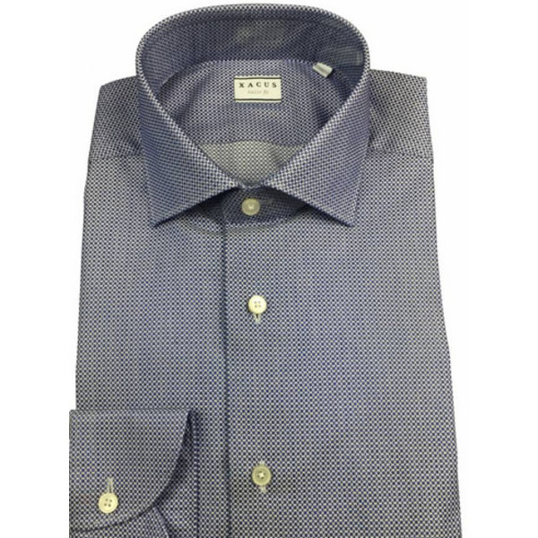 Dress Shirt Blauw Motief