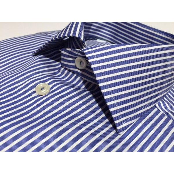 Dress shirt blue streep