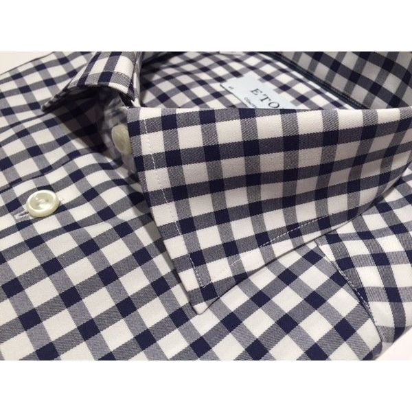 Dress Shirt Blauw & Wit Ruit