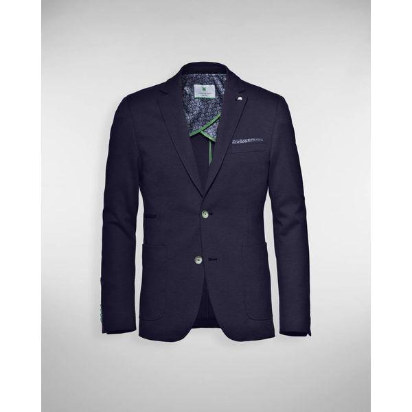 colbert d. blauw tricot