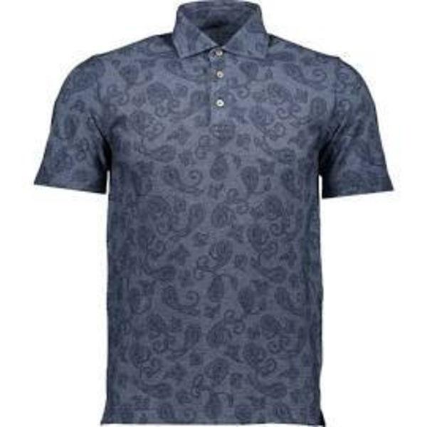 polo shirt blauw met print
