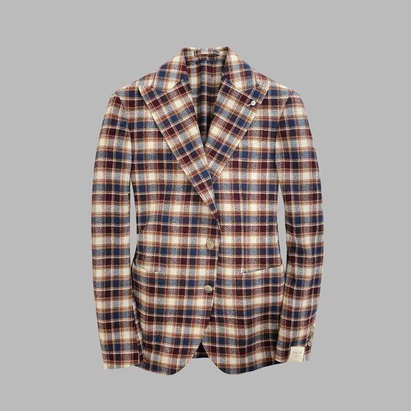 colbert ruit d. blauw tricot