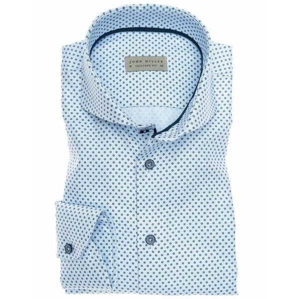 dress-shirt l. blauw/stip