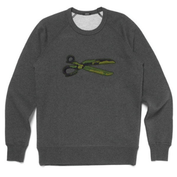 sweater logo antraciet