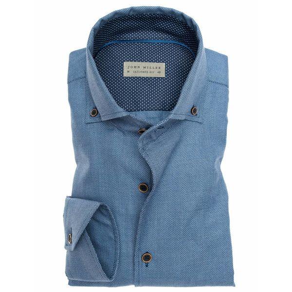 Dress Shirt Midden Blauw