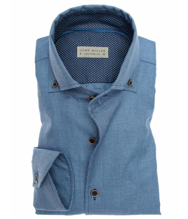 John Miller JM dress-shirt 5135676 TF 150-190 m. blauw