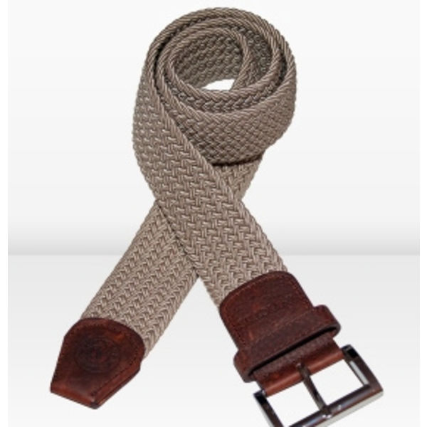 small woven belts beige of d.blauw