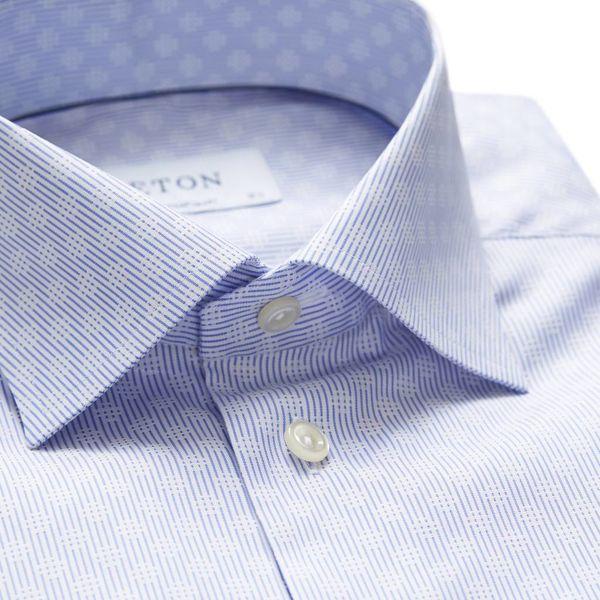 Dress Shirt Licht Blauw Motief