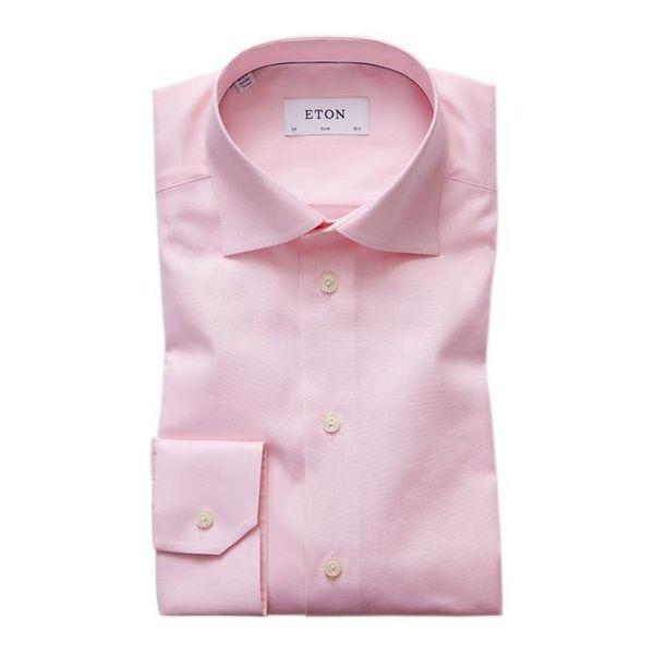 Pink Herringbone Twill Shirt