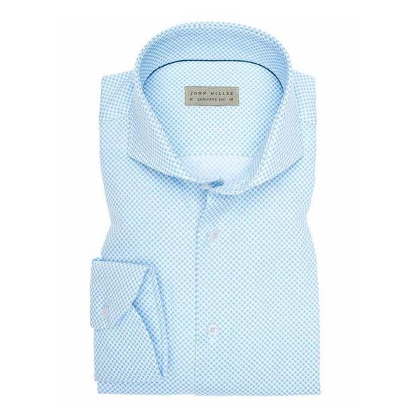 Licht Blauw Print Shirt