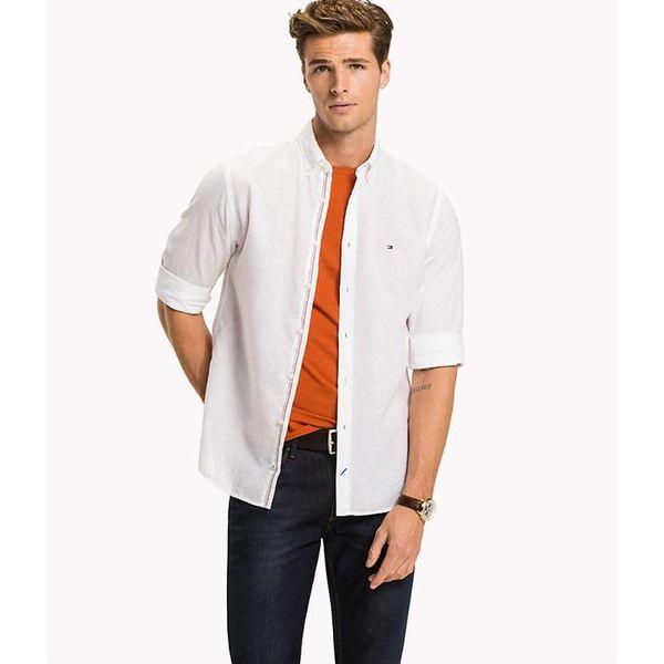 Regular fit katoenlinnen shirt