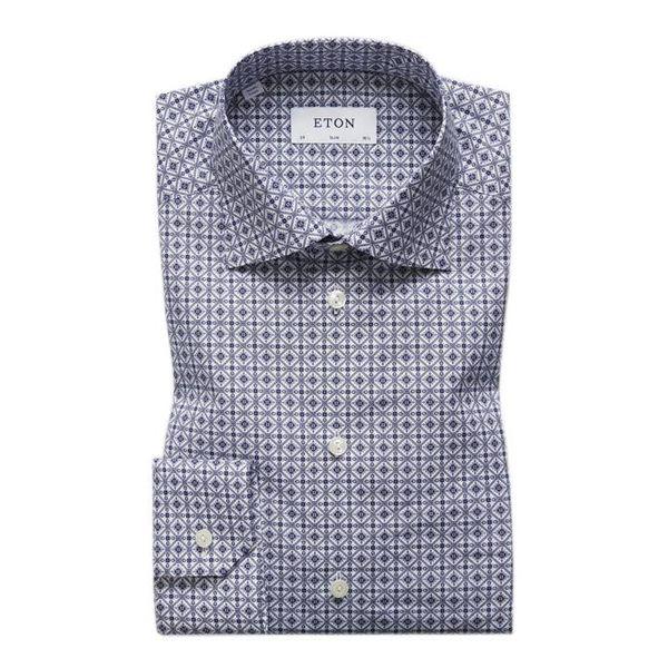 Blue Medallion Print Shirt