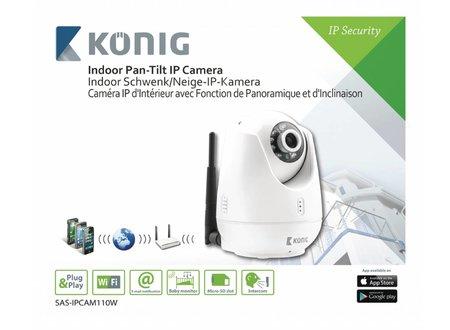 Konig Binnencamera Pan-Tilt IP-Camera - VGA Wit