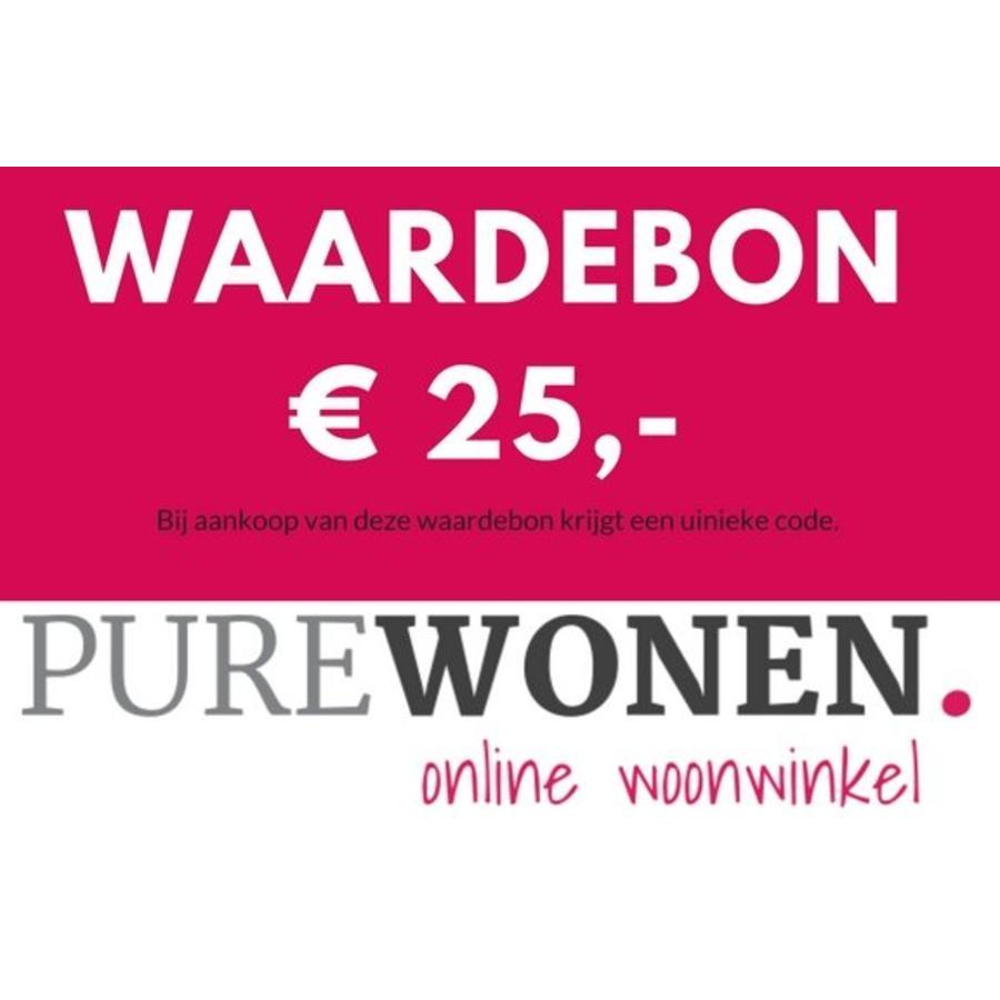 Vijfentwintig euro waardebon