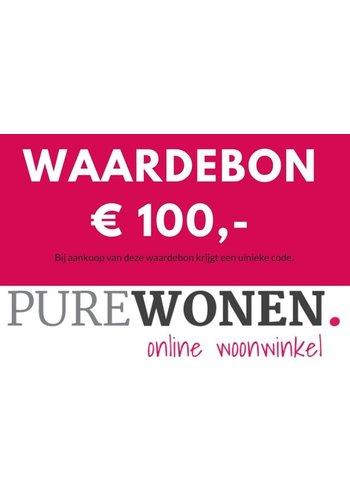 PureWonen Honderd euro waardebon