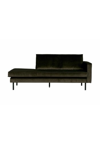 BePureHome Collection  Rodeo daybed velvet donker groen rechts hunter
