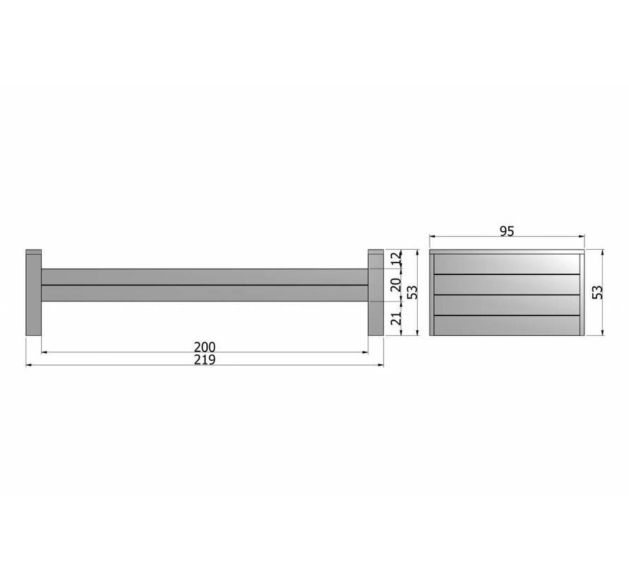 Dennis Bed 90x200 Cm Grenen Steel Grey Geborsteld [fsc]